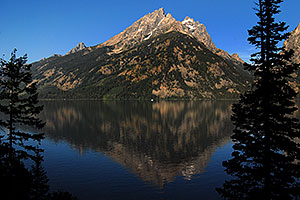 Mountain reflection in Jenny Lake