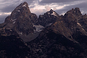 Grand Teton (left) in the morning