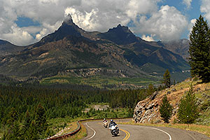 Images along Beartooth Pass Highway
