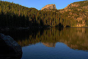Bear Lake (elev 9,475 ft) in the morning
