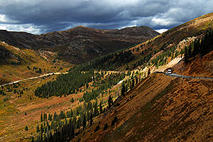 Independence Pass Highway near top of road, from Aspen side