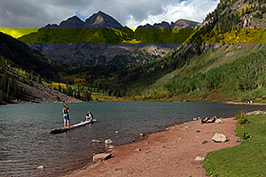 People at Maroon Bells