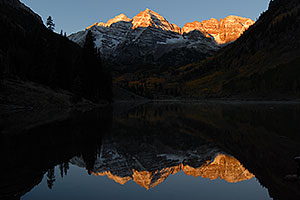Maroon Bells in the morning