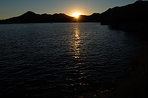 Sunset at Saguaro Lake