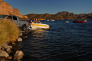 Boats at Saguaro Lake