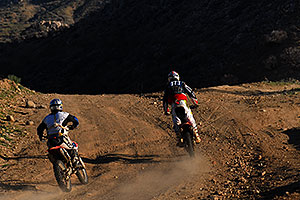 Dirtbikes along dirtroad from Lake Pleasant to Crown King
