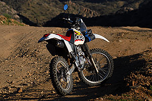 XR250 along dirtroad from Lake Pleasant to Crown King