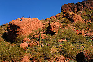 Hikers and Climbers at Camelback Mountain in Phoenix