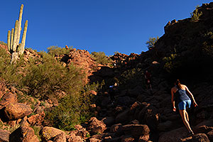 Hikers at Camelback Mountain in Phoenix