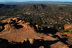 View North from the top of Camelback Mountain in Phoenix