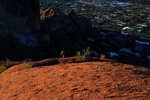 Hiker at Camelback Mountain in Phoenix
