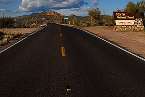 Apache Trail road in Superstitions