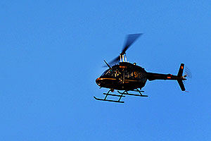 Sheriff helicopter in Superstitions
