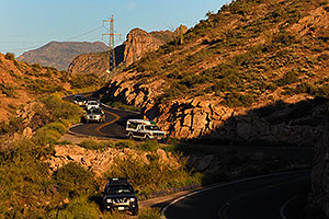 Apache Trail past Canyon Lake in Superstitions