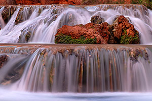 Waterfalls along Havasu Creek