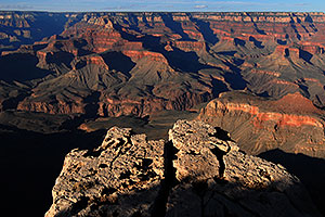 View from Yaki Point near South Kaibab Trail in Grand Canyon