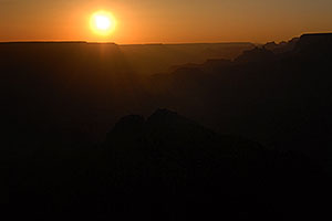 Sunset at Desert View in Grand Canyon