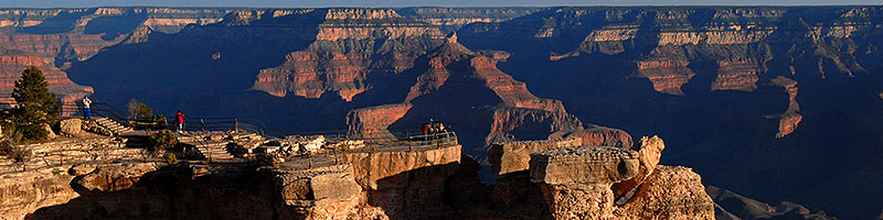View of Mather Point in Grand Canyon