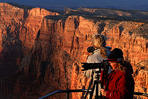 Photographers at Desert View in Grand Canyon