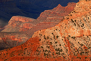 View of South Kaibab Trail in Grand Canyon