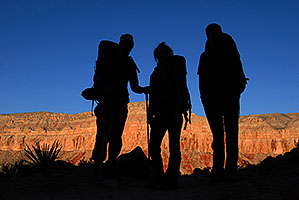 Hikers along Havasupai Trail at 8 am