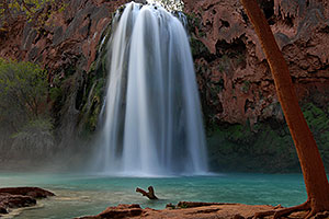 Morning at Havasu Falls - 120 ft drop (37 meters)