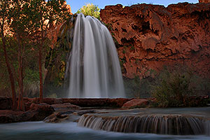Late afternoon at Havasu Falls - 120 ft drop (37 meters)