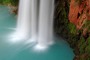 Bottom of Havasu Falls - 120 ft drop (37 meters)