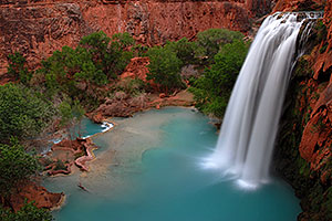 Havasu Falls - 120 ft drop (37 meters)