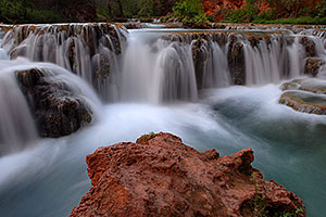 Second crossing (50 yards upstream) of Havasu Creek from Mooney Falls to Beaver Falls