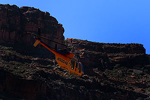 Grand Canyon Tours helicopter leaving Supai