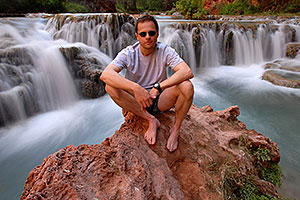 Me at second crossing of Havasu Creek from Mooney Falls to Beaver Falls
