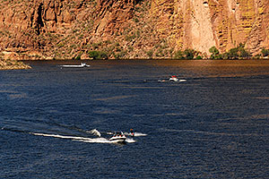 People boating at Canyon Lake