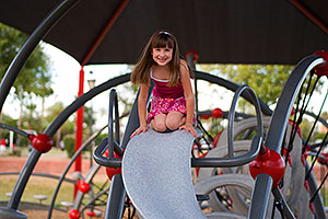 Alexandra on a slide