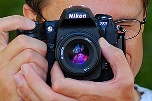 My Nikon D300 camera with 50mm f/1.8 lens