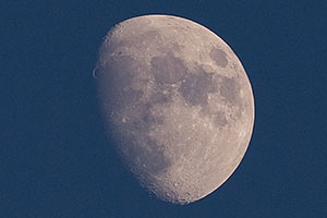 Evening moon (Waxing Gibbous phase) at Superstitions