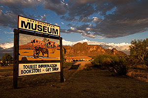 Sunset at Lost Dutchman Museum in Superstitions