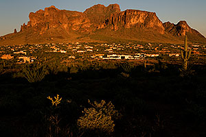 View of Apache Junction by Superstition Mountain