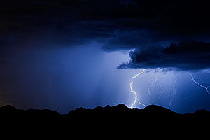 Lightning in Superstitions, Arizona