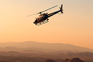Police Helicopter over Squaw Peak