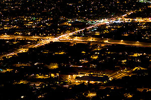 View from Squaw Peak at Phoenix, intersection of I-51 and Glendale Ave