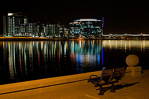 Night View from North Bank Boat Landing at Tempe Town Lake