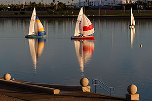 Sailboats by North Bank Boat Landing at Tempe Town Lake