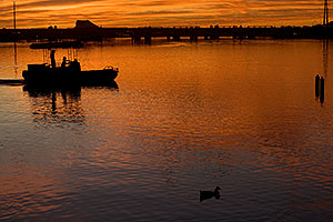 Orange sunset at Tempe Town Lake