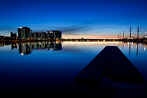 After sunset at North Bank Boat Ramp at Tempe Town Lake