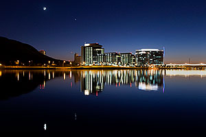 After sunset at Tempe Town Lake