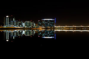 Night reflections at Tempe Town Lake