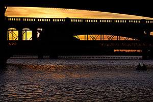 Boaters by Mill Road bridge over Tempe Town Lake