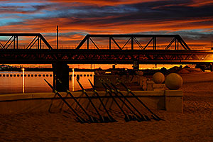 Sunset on North Bank Boat Beach at Tempe Town Lake