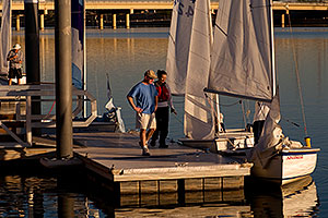 AZSailing.com Sailing Instruction - Sailboat at Tempe Town Lake